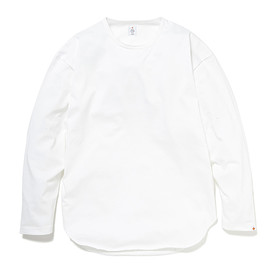 HEAD PORTER PLUS - OVAL L/S TEE WHITE