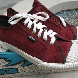 VANS - 90's Plimsoll BURGUNDY SUEDE (made in usa)