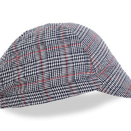 WALZ CAPS - Navy/White/Red Plaid Cotton Cycling Cap