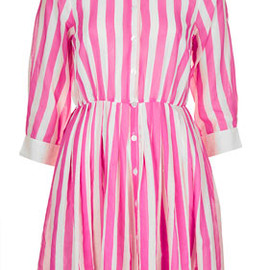 TOPSHOP - Pink Stripe Shirtdress