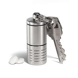Cielo Pill Holders - Dual Chamber Pill Holder - Silver