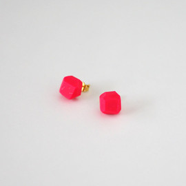 amerrymishap - hot pink geo earrings