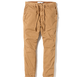 nonnative - DWELLER EASY RIB PANTS - C/R KATSURAGI STRETCH OVERDYED
