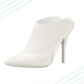 ALEXANDER WANG - Miranda calf-hair slide bootie in Porcelain