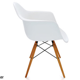 Herman Miller - Eames Shell Armchair DAW Maple Legs White
