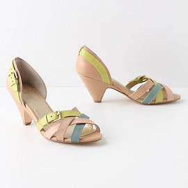 anthropologie - Tone-Wrapped Peep-Toes