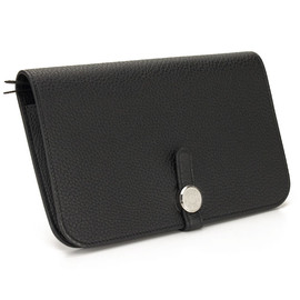 HERMES - Dogon wallet Black
