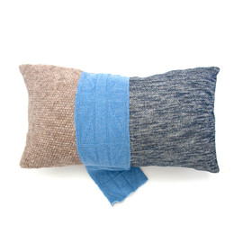 F.D per Fil D'araignee - Knit Patchwork Cushion Cover