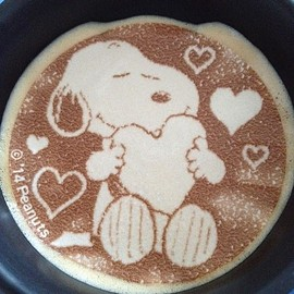 Deco Latte - Snoopy