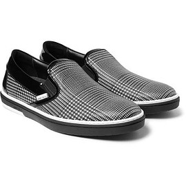 Jimmy Choo - Grove Checked Leather Slip-On Sneakers