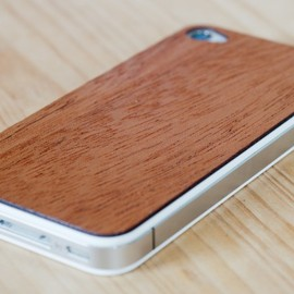 grandmaswoodentooth - Real Mahogany Wood iPhone Skin Sticker