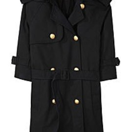 Boy by Band of Outsiders - Cropped Sleeve Trenchcoat
