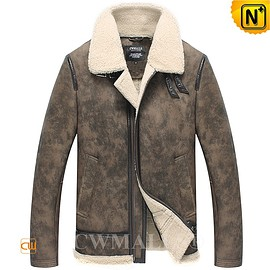 CWMALLS - CWMALLS® Vintage Shearling Aviator Jacket CW838021