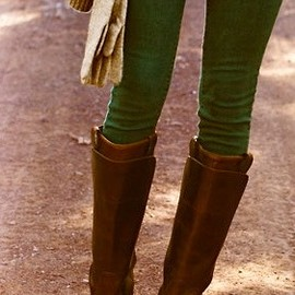 green skinnies & boots