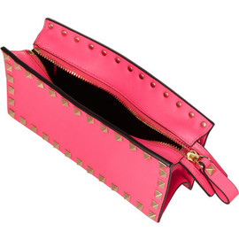 VALENTINO - Neon studded leather pouch