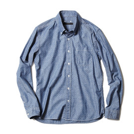SOPHNET. - DOT CHAMBRAY B.D SHIRT
