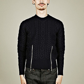 Carven - Zipped Cable Knit Jumper