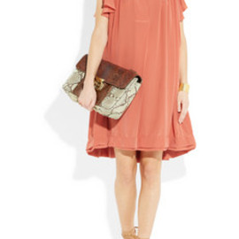 Chloe - Gathered silk crepe de chine dress