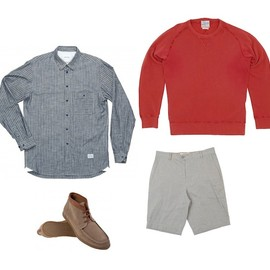norse projects - gunnar shirt levis vintage sweater ymc shorts folk shoes NORSE PROJECTS SHIRT + LEVIS VINTAGE SWEAT + YMC SHORTS + FOLK SHOES | OKI NI UP TO 60% SALE