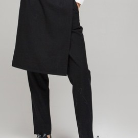FrontRowShop - Trousers with split skirt