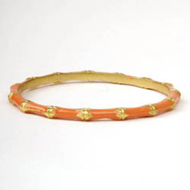 Kenneth Jay Lane - Bamboo Bangle - Peach