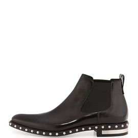 GIVENCHY - Studded Leather Chelsea Boot, Black