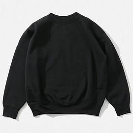 AURALEE - BAGGY POLYESTER SWEAT P/O [BLACK]