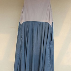 Double layer dress - Cotton Maxi Dress/ sleeveless dress/ Loose womens dresses/ Dress with pockets
