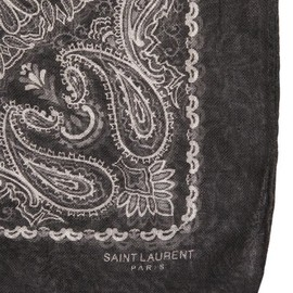 SAINT LAURENT by hedi slimane - printed silk cashimire scarf (bk)