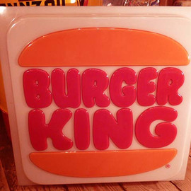 BURGER KING - 80'S BURGER KING STORE SIGN