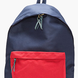 NANAMICA - NAVY & RED CANVAS BACKPACK