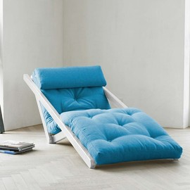 Fresh Futon - Figo Blue With White Frame