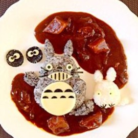 Totoro curry.....Curry is favorite !(^O^)! Totoro,too.