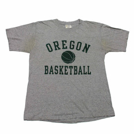 VINTAGE - Vintage 90s Oregon Basketball Shirt Made in USA Mens Size Large