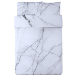 Safe House USA - White Marble Duvet Set
