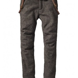 Scotch & Soda - Wollen pants with suspenders