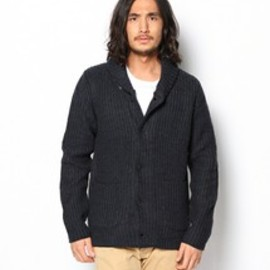 G-STAR RAW - G-STAR RAW MEN'S(ジースター ロゥ メンズ)のCOVER CARDIGAN KNIT L/S/ OXFORD KNIT(カーディガン)|ダークブルー