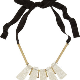 MARNI - Gold-tone quartz, resin and glass necklace