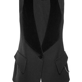 ALEXANDER WANG - FW2015 Cotton Wool Twill Tailored Vest
