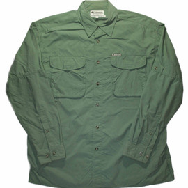 Columbia - Vintage 90s Columbia Outdoors Nylon Button Up Shirt Shirt Made in USA Mens Size Large