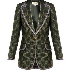 GUCCI - Resort 2019 GG-jacquard single-breasted blazer
