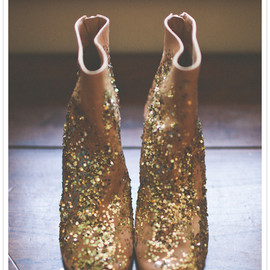 Maison Martin Margiela - sequin-splashed leather booties