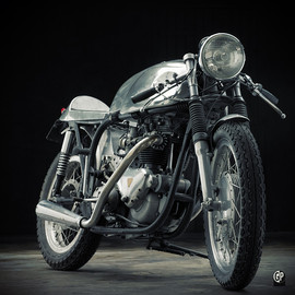 Cooper - Freddie Cooper's Triton motorcycle