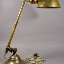 "アメリカン・アンティーク - 1910-20's ""O.C.White"" Brass Telescopic Desk Lamp"