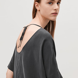COS - SILK DRESS WITH FRONT POCKET