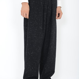 LAD MUSICIAN - 2TUCK WIDE PANTS ITEM NO.2212-574 BLACK WOOL 96% NYLON 2% ACRYLIC 2% [NEP WOOL CLOTH] ¥ 31,500 9/22