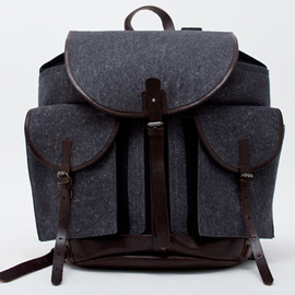 Dries Van Noten - Wool Leather Backpack