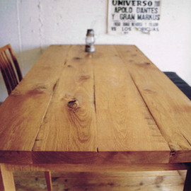 TRUCK FURNITURE - 93. OAK TABLE