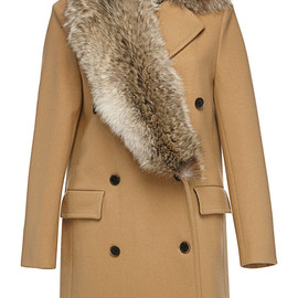MSGM - Pre-Fall2014 Stole Collar Wool Coat