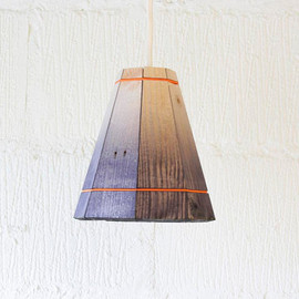 FactoryTwentyOne - Black Pendant Lamp Shade Handmade in Recycled Pallet Wood, Small